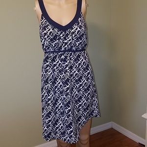 Petticoat Alley navy and white dress size S